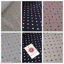 Pois a Pois Multicolore Abito Artigianato 100% Cotton Popeline Tessuto 114cm M21