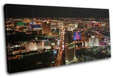 Las Vegas Strip Landmarks SINGLE CANVAS WALL ART Picture Print VA