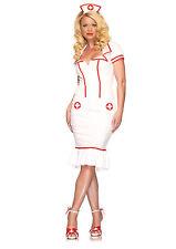Sexy Halloween Adult Miss Diagnosis Nurse Costume w Headpiece
