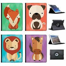 Geometric Modern Animals Folio Cover Leather Case For Apple iPad