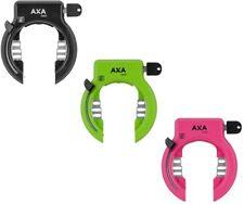 AXA Solid Fahrrad-Rahmen/Ringschloss Schlüssel nicht abziehbar schwarz/grün/rosa