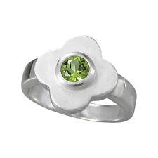 Schmuck-Michel Ring Blume Silber 925 Peridot 0,6 ct - Gr. 50-65 wählbar (1451)