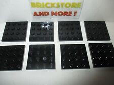 Lego - Plaque Plate 4x4 3031 Black/Noir - Choose Quantity x1 - x8