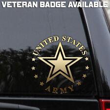US Army Decal Sticker Veteran Military Star Car Truck Wall Window Laptop