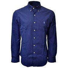 Polo Ralph Lauren Mens Classic Fit Shirt Poplin Long Sleeve Buttondown NAVY