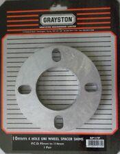 GRAYSTON Pack de 2 entretoises roue Universel 10mm 4 stud shims PCD 95-114mm paire