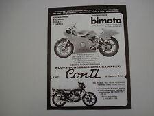 advertising Pubblicità 1979 MOTO BIMOTA KB1 e KAWASAKI Z400 Z 400