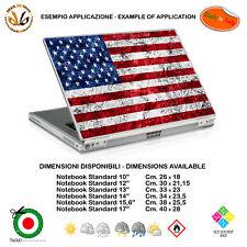 America flag sticker adesivo notebook tablet bandiera USA print pvc 1 pz.