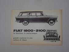 advertising Pubblicità 1959 FIAT 1800 - 2100