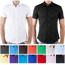 Redbridge Herren Hemd Hemden Freizeithemd Slim-Fit Kurzarm Bügelfrei Tailliert