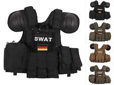 """MFH Taktische Weste """"Combat"""" Schutzweste Einsatzweste Molle Größenverstellbar"""