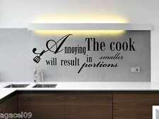 Cuisine Cook Mur Citer Autocollant Vinyle stcker cool Pochoir Mural Graphique disant