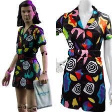 Stranger Things Season 3 Cosplay Eleven 11 Kleid Kostüm Romper Suit Playsuit