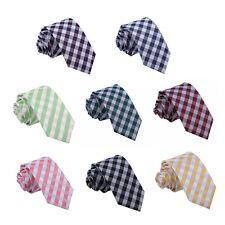 Tejido jacquard Gingham Check DQT Premium Corbata Corbata Delgada Para hombres Informal Formal