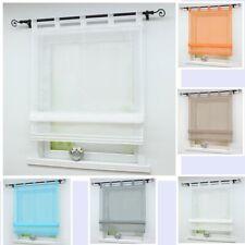 einfarbige moderne gardinen vorh nge mit schlaufenaufh ngung aus voile g nstig kaufen ebay. Black Bedroom Furniture Sets. Home Design Ideas
