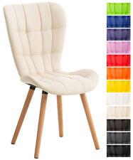 Chaise salle à manger ELDA fauteuil similicuir bois cuisine lounge scandinave