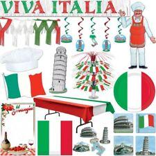 ITALIEN Fiesta Temática Decoración Rojo Blanco Verde ITALIANA Set Decoración ROM