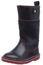 New Little Girls Adlar Petal Hi  Blue Leather Boots BNIB