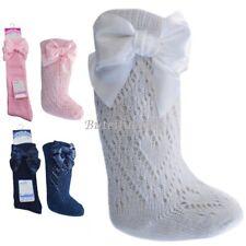 e553bd61c Baby Girls Spanish Romany Style Pelerine Knee Length Bow Socks Soft Touch  0-24M