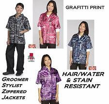 Top Performance Graffiti STYLIST BARBER GROOMER JACKET Hair Water Stain Resist