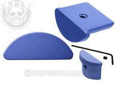 for Glock 43 Aluminum Grip Frame Blue Slug Plug With Lasered Images