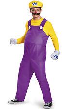 Brand New Super Mario Brothers Wario Deluxe Adult Costume