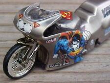 NHRA 1999 Matt Hines Raw Bare Metal Superman Pro Stock Drag Bike Motorcycle 1/43