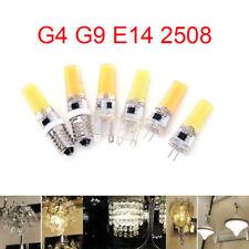 Dimmable G4 G9 E14 9W COB ampoule 2508 SMD LED lampe de cristal de silicone 220V