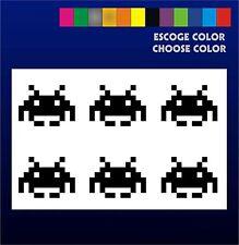 6 PEGATINAS - Sticker - Vinilo - SPACE INVADERS- Aufkleber Vinyl Iphone Sickers
