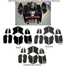 """Saddlebag Carpet Liner kit For Harley-Davidson 4"""" Extended Stretched ABS Bags"""