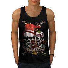 Amar Para Siempre Metal Calavera Men Camiseta sin mangas Nuevo | wellcoda