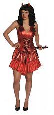 sexy Teufelin - Größe: 32 - 44 - Teufelinenkleid - Halloweenkleid