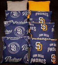 New/Rare San Diego Padres Cornhole Bean Bags 8 Aca Reg. made w Sd Mlb Fabric