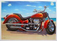 "VALTER MORAIS ""COOL RIDE MOTORCYLE"" Hand Signed Art Serigraph"