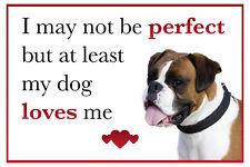 Funny My Dog Loves Me Boxer Dog Vinyl Car Van Sticker Pet Animal Lover
