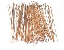 100 GOLD FILLED 12kt 24 GAUGE 2 INCH HEAD PINS C105