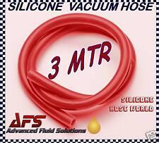 "6mm x 3MTR ROUGE TUYAU DÉPRESSION SILICONE tuyau SILICONE 1/4"""
