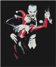 Handmade Batman's Joker and Harley Quinn Cross Stitch Pattern