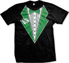 Clover Tuxedo Rose Bowtie Formal Funny Classy Casual St Patricks Day Mens Tshirt