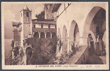 VARESE LEGGIUNO 09 SANTA CATERINA del SASSO Cartolina 1922  Ediz. CONTI LAVENO