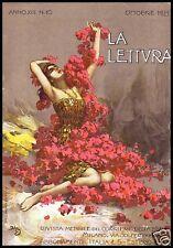 ACHILLE BELTRAME DONNA LIBERTY PAESANELLA D'ANNUNZIO ELEGANZA FIORI 1913