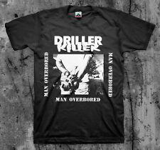DRILLER KILLER 'Man Overbored' T shirt (D-Beat Wolfbrigade Doom Disfear)