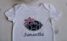 Dallas Cowboys Personalized Baby Girl Bodysuit