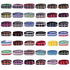 colección 22mm Raya Cambo Nailon Correa De Reloj Nato pulsera Banda Muchos color