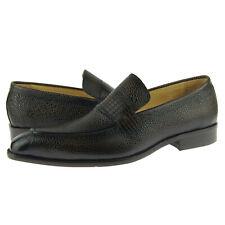 Carrucci Stingray Embossed Leather Loafer, Men's Dress Slip-on Shoes, Chestnut