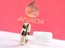 1 Damenring - Verlobungsring - Gold 333 mit Zirkonia - Breite 5mm - Höhe 1,3mm