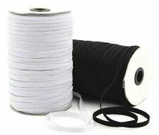 6x White Dressmaking Sewing Elastic Flat 20mm 12mm 7mm 6mm 5mm 4mm aprox Width