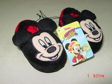 NWT Toddler Boys Mickey Mouse Slippers Disney Cute Warm Cozy Fun Footwear