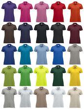 maglia maglietta polo t-shirt piquet 3bottoni mezze maniche donna 25colori 190gr