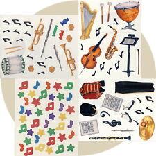 Creative Memories Block Sticker MUSICAL INSTRUMENTS NOTES BAND EQUIPMENT